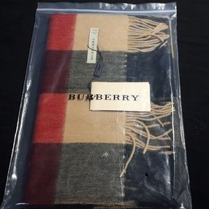 BURBERRY SCARF UNİSEX NWT (%100 COTTON)